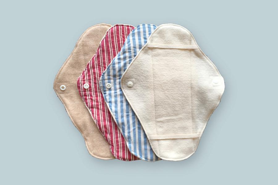 オーガニックコットンの布ナプキン