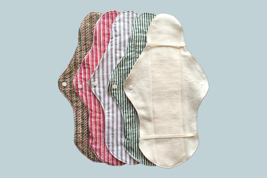 オーガニックコットンの布ナプキン Lサイズ